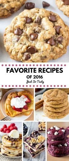 Top Recipes of 2016 on Just So Tasty. This year's reader favorites include cookies, donuts, easy one-bowl recipes, and comfort foods.