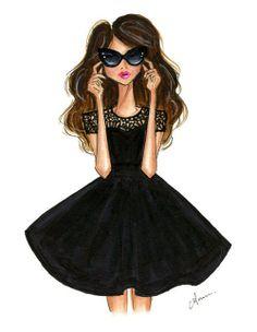 Black Dress and Shades