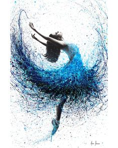 Ocean Mist Dance Art Print by AshvinHarrison - X-Small Art Ballet, Ballet Painting, Dance Paintings, Painting & Drawing, Dancer Drawing, Painting Tattoo, Ballet Dancers, Dance Photos, Dance Pictures