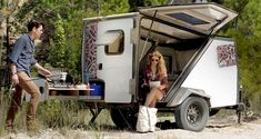 You'll do some real 'camping' with this new entry to the trailer market, which comes with an outdoors kitchen and integrates the user closely with the surrounding environment.