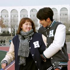 Omigosh, these two, giddily happy in love, is the cutest thing EVAR! 😍😍😍 I literally flail at the adorable ❤ I wish this show would never end, seriously. Swag Couples, Cute Couples, Weightlifting Fairy Kim Bok Joo Wallpapers, Nam Joo Hyuk Lee Sung Kyung, Kim Book, K Drama, Nam Joohyuk, Korean Couple, Kdrama Actors