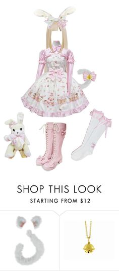 """""""♥ Berii Shirayuki ♥"""" by scricch ❤ liked on Polyvore featuring Paul Morelli, angelic pretty, white, tokyo mew mew, lolita, bunny, bell, sweet lolita, pink and cat"""