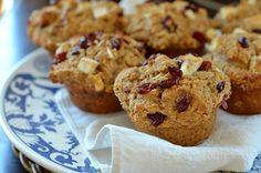 Big, Beautiful Bran Muffins with Cranberries and White Chocolate from @ThreeManyCooks