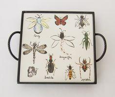 Bandeja com o tema bugs! #porcelana #porcelanadecorada #porcelanapersonalizada #decoração #decor #pintadoamão #feitoamão #brasil #brazil #homedecor #porcelain #bugs #insetos #butterflyes #spiders #grilos #ouro #westwing https://www.westwing.com.br/porcelana-patricia-virmond-pratos-bandejas-e-moringas/