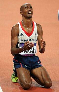 Mo Farah. Double Olympic Champion (5,000m & 10,000m).  London 2012