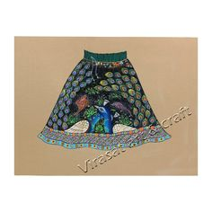 Miniature Painting on Paper of Traditional beautiful Indian skirt dress with peacock design, gift, home decor, Indian art,Indian handicraft by VirasatArtAndCraft on Etsy Indian Skirt, Fine Paper, Peacock Design, Handicraft, Boho Shorts, Dress Skirt, Miniatures, Traditional, Trending Outfits