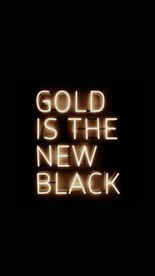"""Gold is the new black"" And wearing black will make your gold jewellery shine even brighter! More jewellery on TheJewelleryRoom.com"