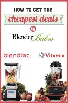 How to SAVE BIG! The Cheapest Deals on Refurbished Vitamix & Blendtec Blenders by Blender Babes | Blender Babes is dedicated to helping our community decide which blender model is the BEST choice for you, your family, and your wallet.