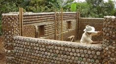 Building+with+Plastic+Bottles | Please keep your plastic bottles to be turned into affordable housing. Plastic Bottle House, Empty Plastic Bottles, Recycle Bottles, Soda Bottle Crafts, Soda Bottles, Brick Projects, Earthship Home, Recycling, Natural Building