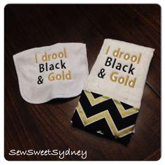 cf55a146a7 UCF Black   Gold Set - Bib and Burp Cloth
