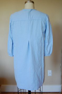 Refashion 16: Earth Day Pintucked Shirtdress from Men's Dress Shirt: Back view on form by phthooey, via Flickr
