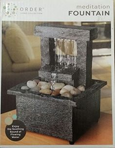 Stone Effect Water Fountain Outdoor Or Indoor Slate Feng Shui New Home Gift Patio Water Fountain, Indoor Water Fountains, Tabletop Fountain, Indoor Fountain, Fountain Ideas, Feng Shui New Home, Feng Shui Office, Decorative Fountains, Fountains For Sale