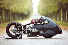 The inspiration for a bike build can come from the most unlikely of sources. In the case of this most unusual BMW sprint bike, it was a vintage M&H Racemaster drag tire. The tire belonged to the amiable Séb Lorentz of the Lucky Cat Garage, a familiar face on the European custom show circuit. While…