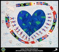 Finalist from Arkansas, USA (Des Arc Lions Club) - 2013-2014 Peace Poster Contest