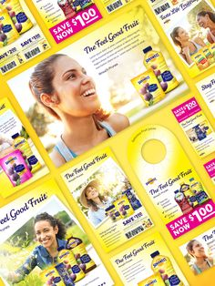 Sunsweet promotional material design: ads, coupons, IRCs