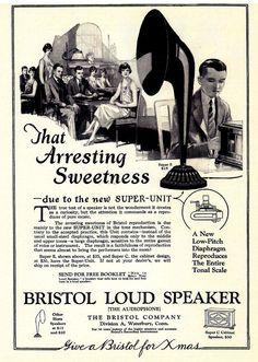Bristol loudspeaker (1925) for the true audiophile, Michael Galloway