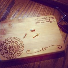 Wood Burning from March's TO DIY FOR Box by #darbysmart