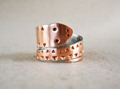 Snake ring Copper ring Wrap ring Serpent ring by elisaboutique