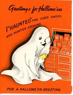 Vintage Hallmark Halloween Greeting Card  Ghost 1912 FOR SALE • $29.00 • See Photos! Money Back Guarantee. 3 1/2 x 4 1/2 NO INTERNATIONAL SALESPAYPAL PLEASEWILL COMBINE SHIPPING 262928088237