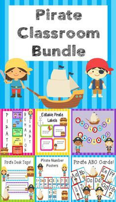 Pirate Classroom Bundle!  Over 70 pages of Pirate themed decorations.  Save 40% over buying each product individually!