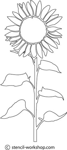 Sunflower Stencil - 5