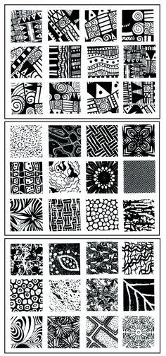 Sax Flexible Assorted Pattern Textured Imprinting Mat Set, 1 X 1 in, Set of 36