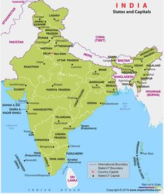 Map of India showing 28 States and Capitals of India including union territories. Find the list of all 28 Indian states and 8 Union Territories and their capitals. Get Capitals of India Map, States of India Map General Knowledge Book, Gernal Knowledge, Indian River Map, World Political Map, Indian Freedom Fighters, Hindi Language Learning, Gk Questions And Answers, States And Capitals, Union Territory