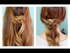 Finally! A video tutorial about how to do the celtic knot hairstyle that's all over Pinterest!
