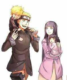 Naruto, Hinata, Himawari and Boruto • Naruto