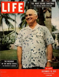 1951 President Harry Truman Original Life Magazine Cover