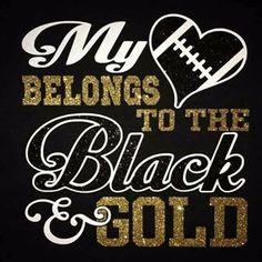 my heart belongs to the black and gold new orleans saints shirt Cheer Mom Shirts, Sports Mom Shirts, Basketball Mom Shirts, School Spirit Shirts, School Shirts, Football Shirts, Football Posters, Ucf Shirts, Football Slogans