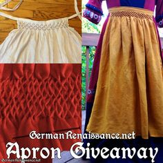 Honeycomb Pleatwork Apron Giveaway! Enter before October 13, 2013 at 9 pm ET on the German Renaissance Facebook page.