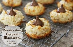 Melissa's Southern Style Kitchen: Chocolate Kissed Coconut Macaroons