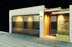 Apartment building facade dreams Ideas for 2019 Home Gate Design, Fence Design, Modern House Facades, Modern House Design, Gate House, Facade House, Tor Design, Apartment Entrance, Garage Door Design