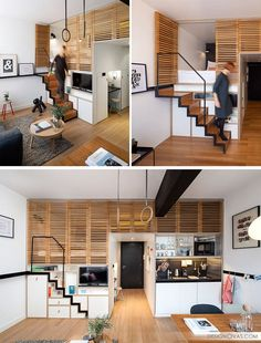 Attraktiv 13 Stair Design Ideas For Small Spaces // This Stair Case Pulls Out When  Itu0027s Needed But Tucks Back Into The Wall When It Isnu0027t. This Creates More  Space In ...