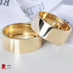 Gold Band Ring, Gold Rings, Band Rings Women, Engagement Rings Couple, Ring Designs, Fashion Rings, Simple Designs, Wedding Bands, Jewelry