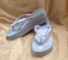 4568f4c2223bc 3 Or 2.5 Silver Brazilian made Rubber Flip by MyCustomFlipFlops