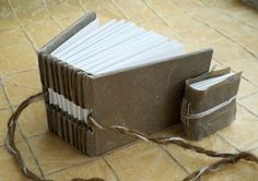 Handmade FLAX paper covered blank books duo by CourtneyGoromboly