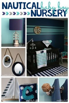 Nautical Baby Boy Nursery: bedroom makeover for a new baby boy with nautical theme decor that doesn't break the budget