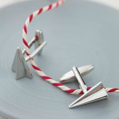 Paper Plane Cufflinks. Perfect for Jimi and his groomsmen!