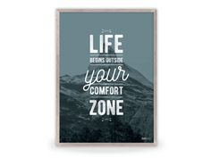 Plakat: Life begins outside your comfort zone (Green)