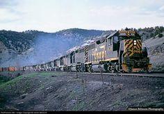 RailPictures.Net Photo: DRGW 3095 Denver & Rio Grande Western Railroad EMD GP40-2 at Spanish Fork Canyon, Utah by James Belmont