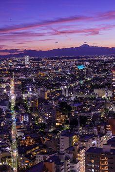 Twilight view from Carrot Tower, Sangenjaya, Tokyo