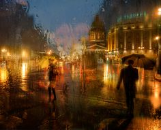 The Wonderful Atmospheric , Rain drenched Cityscapes of Eduard Gordeev His amazing photography seems to hang on the borderline of fantasy and painting, steeped in intrigue and atmosphere, and catching rain perfectly.