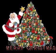 christmas tree santa