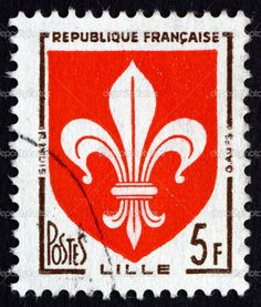 """FRANCE - CIRCA 1958: A stamp printed in France from the """"Arms of French Towns 3rd Series"""" issue shows coats of arms of Algiers, circa 1958. Description from depositphotos.com. I searched for this on bing.com/images"""