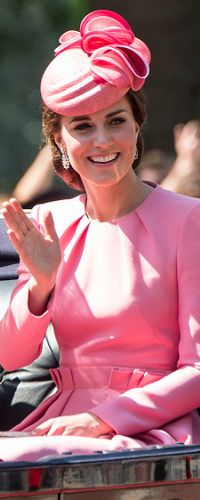 17 Jun 2017 - Duchess of Cambridge attends Trooping the Colour parade