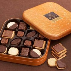 Chocolate Chocolate Biscuit Gift Tin (50 pc.) at Godiva.com. Just bc these are amazing