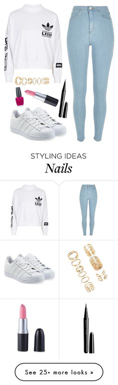 """""""Untitled #521"""" by c6ixgoddess on Polyvore featuring moda, adidas, River Island, adidas Originals, Marc Jacobs, OPI i Forever 21"""