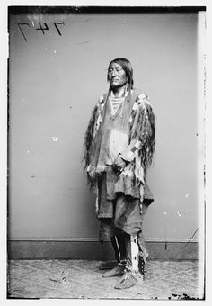 Crow Indian Chief, Forms part of Brady-Handy Photograph Collection Library of Congress Prints and Photographs Division Washington, D.C.